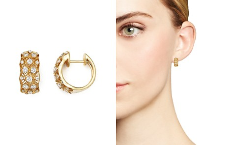 Diamond Huggie Hoop Earrings in 14K Yellow Gold, .80 ct. t.w. - 100% Exclusive - Bloomingdale's_2