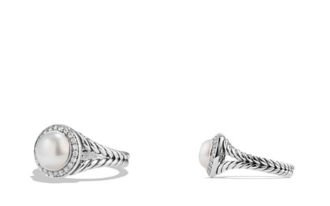 David Yurman Albion Pearl Ring with Diamonds - Bloomingdale's_2