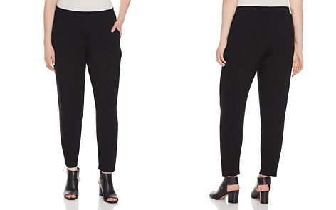 Eileen Fisher Plus System Slim Slouchy Ankle Pants - Bloomingdale's_2