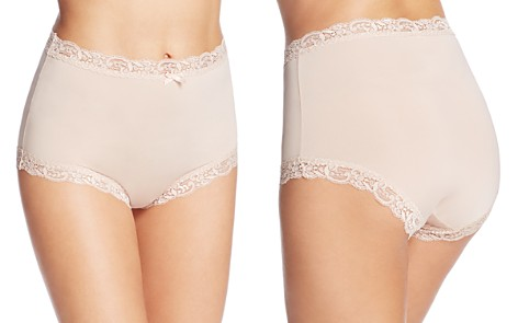 Fine Lines Microfiber Scallop Lace Full Briefs - Bloomingdale's_2