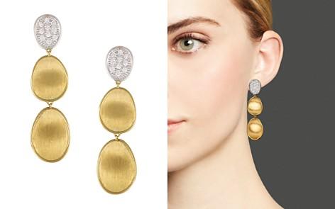 Marco Bicego Diamond Lunaria Three Drop Small Earrings in 18K Gold - Bloomingdale's_2