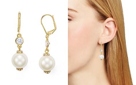 Kate Spade New York Simulated Pearl Leverback Earrings Bloomingdale S 2