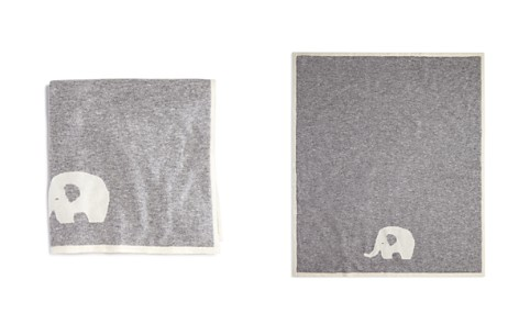 Bloomie's Infant Boys' Cashmere Elephant Intarsia Blanket - One Size - 100% Exclusive - Bloomingdale's_2