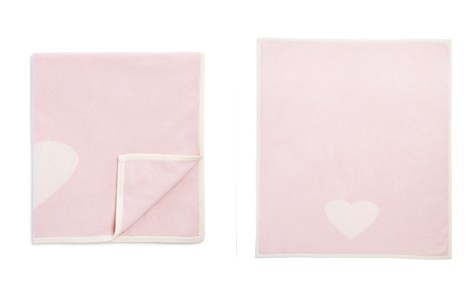 Bloomie's Infant Girls' Cashmere Heart Intarsia Blanket - 100% Exclusive - Bloomingdale's_2