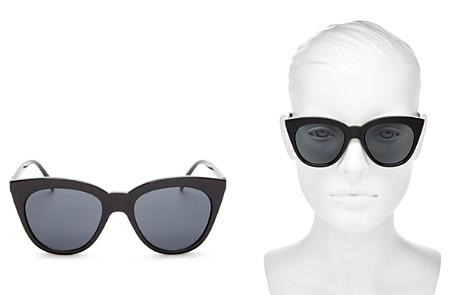 Le Specs Women's Halfmoon Magic Cat Eye Sunglasses, 53mm - Bloomingdale's_2