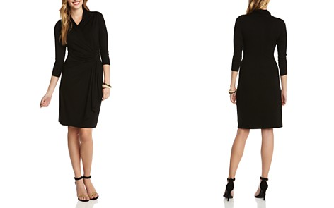 Karen Kane Cascade Faux Wrap Dress - Bloomingdale's_2