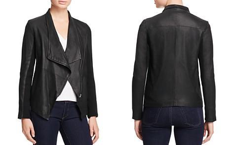 BB DAKOTA Kenrick Draped Leather Coat - Bloomingdale's_2