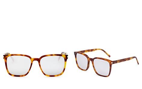 Saint Laurent Mirrored Oversized Square Sunglasses, 52mm - Bloomingdale's_2