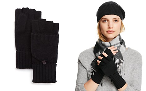 C by Bloomingdale's Pop Top Cashmere Mittens - 100% Exclusive_2