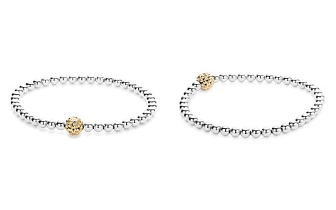 LAGOS 18K Gold and Sterling Silver Stretch Bracelet with Caviar Icon Ball - Bloomingdale's_2