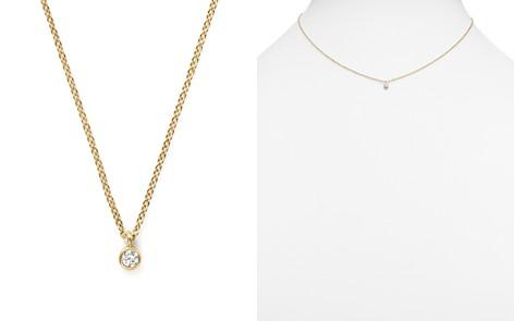 "Zoë Chicco 14K Yellow Gold Bezel Diamond Necklace, 14"" - Bloomingdale's_2"