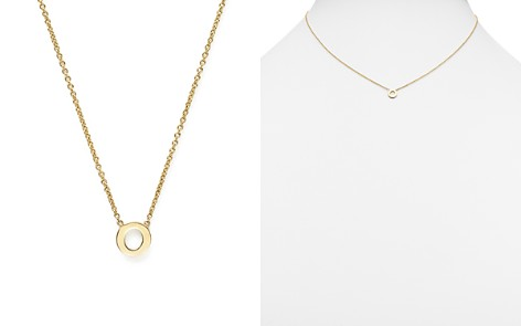 "Zoë Chicco 14K Yellow Gold Initial Necklace, 16"" - Bloomingdale's_2"