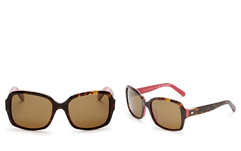 kate spade new york Women's Annora Polarized Rectangle Sunglasses, 54mm - Bloomingdale's_2