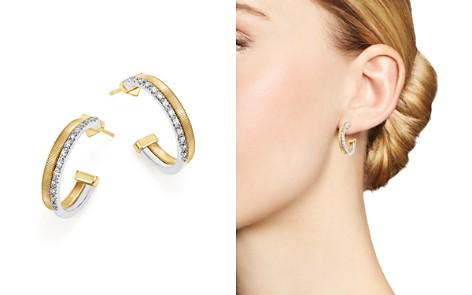 Marco Bicego 18K Yellow & White Gold Masai Two Row Pavé Diamond Hoop Earrings - Bloomingdale's_2