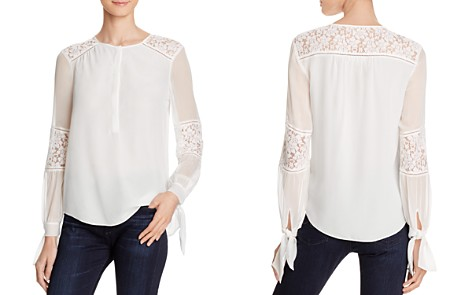 Rebecca Taylor Sarah Lace Paneled Silk Blouse - Bloomingdale's_2