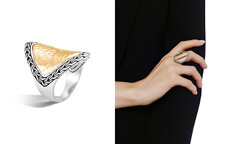 John Hardy 18K Yellow Gold and Sterling Silver Classic Chain Saddle Ring - Bloomingdale's_2