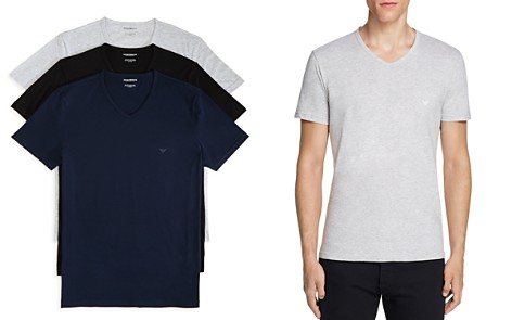 Emporio Armani Pure Cotton V-Neck T-Shirts - Pack of 3 - Bloomingdale's_2
