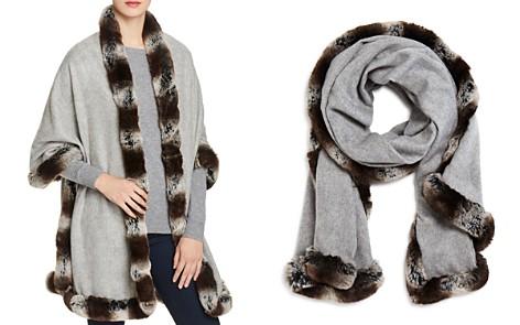 Badgley Mischka Faux Fur Trim Wrap - Bloomingdale's_2