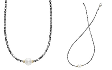 "LAGOS 18K Gold and Sterling Silver Luna Rope Necklace with Cultured Freshwater Pearl, 16"" - Bloomingdale's_2"