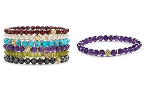 LAGOS Caviar Icon 18K Gold and Gemstone Bracelets - Bloomingdale's_2