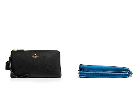 COACH Pebble Double Zip Wallet - Bloomingdale's_2