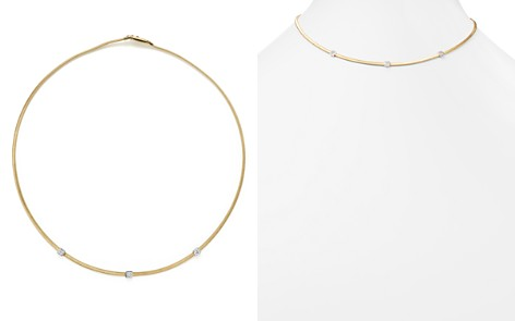"Marco Bicego 18K Yellow Gold Masai Three Station Diamond Necklace, 16.5"" - 100% Exclusive - Bloomingdale's_2"