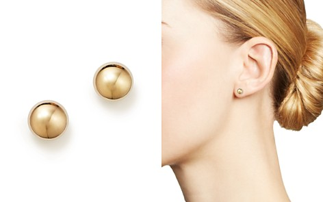 14K Yellow Gold Flat Ball Stud Earrings - 100% Exclusive - Bloomingdale's_2