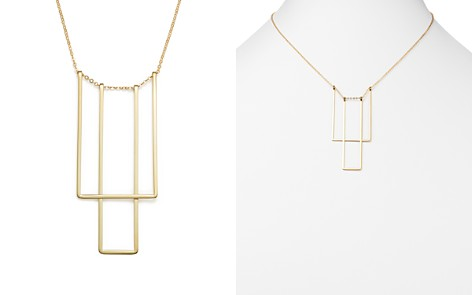 """14K Yellow Gold Simple Square Bib Necklace, 17"""" - 100% Exclusive - Bloomingdale's_2"""