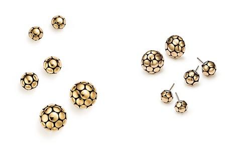 John Hardy 18K Yellow Gold and Sterling Silver Dot Ball Stud Earrings - Bloomingdale's_2