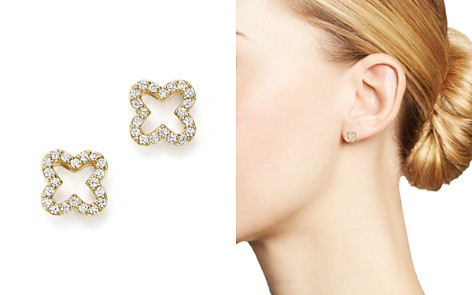 Diamond Clover Stud Earrings in 14K Yellow Gold, .20 ct. t.w. - 100% Exclusive - Bloomingdale's_2