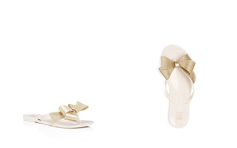 Mini Melissa Girls' Mel by Melissa Harmonic Glitter Bow III Flip-Flops - Little Kid - Bloomingdale's_2