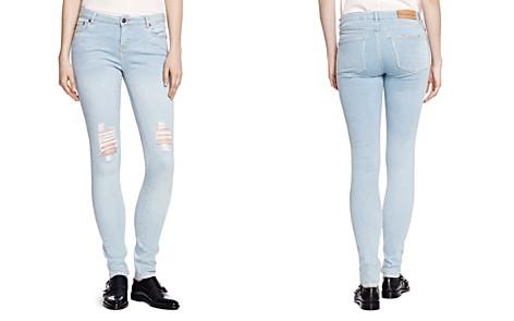 The Kooples Distressed Billy Skinny Jeans in Baby Blue - Bloomingdale's_2