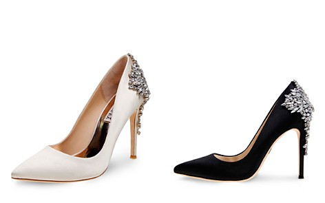 Badgley Mischka Gorgeous Embellished Pointed Toe Pumps - Bloomingdale's_2