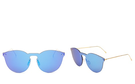 Illesteva Leonard II Mask Mirrored Sunglasses, 60mm - Bloomingdale's_2
