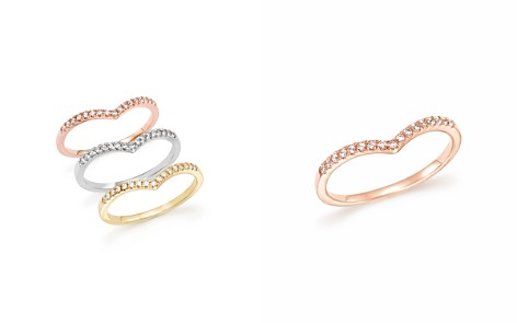 Diamond Micro Pavé Stackable Chevron Band in 14K Gold, .10 ct. t.w. - 100% Exclusive - Bloomingdale's_2