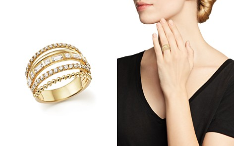 Diamond Multi Row Ring in 14K Yellow Gold, 1.20 ct. t.w. - 100% Exclusive - Bloomingdale's_2