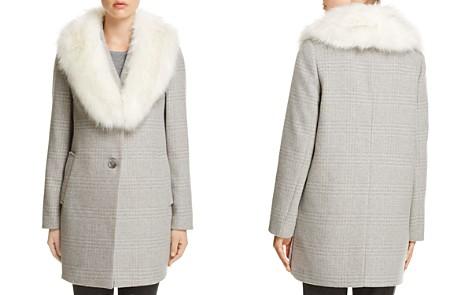 T Tahari Olivia Faux Fur-Trim Coat - Bloomingdale's_2