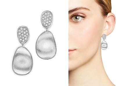 Marco Bicego 18K White Gold Lunaria Diamond Double Drop Earrings - Bloomingdale's_2