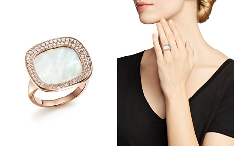 Roberto Coin 18K Rose Gold Carnaby Street Diamond and Mother-Of-Pearl Ring - Bloomingdale's_2