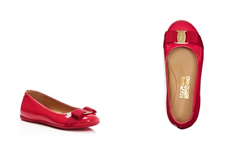Salvatore Ferragamo Girls' Varina Mini Patent Ballet Flats - Toddler, Little Kid - Bloomingdale's_2