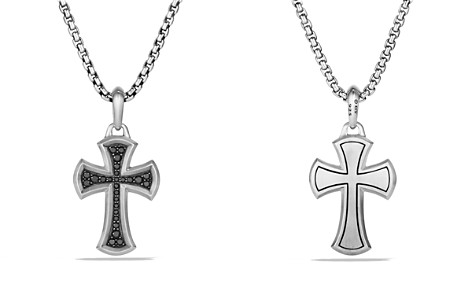 David Yurman Petrvs Cross Pendant with Black Diamonds - Bloomingdale's_2