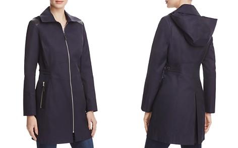 Via Spiga Infinity Faux-Leather Trim Raincoat - Bloomingdale's_2