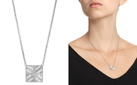 """John Hardy Sterling Silver Modern Chain Diamond Square Pendant Necklace, 16"""" - Bloomingdale's_2"""