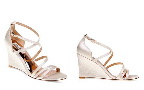 Badgley Mischka Bonanza Satin Strappy Wedge Sandals - Bloomingdale's_2