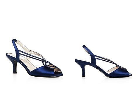 Caparros Philomena Satin Embellished Slingback Mid Heel Sandals - Bloomingdale's_2