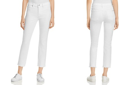 7 For All Mankind Roxanne Raw Hem Ankle Jeans in White Fashion - Bloomingdale's_2