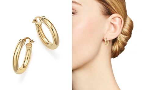 14K Yellow Gold Tube Hoop Earrings - 100% Exclusive - Bloomingdale's_2