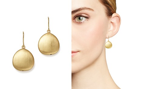 Bloomingdale's 14K Yellow Gold Satin Finish Drop Earrings - 100% Exclusive_2