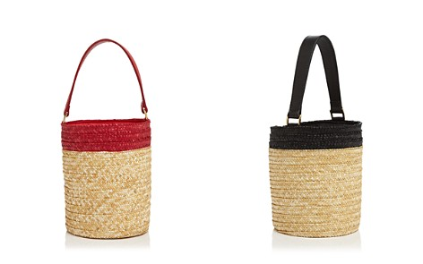 Caterina Bertini Small Straw Bucket Bag - Bloomingdale's_2