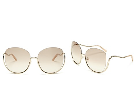 Chloé Milla Oversized Rimless Round Sunglasses, 64mm - Bloomingdale's_2